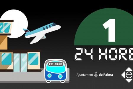 La línea 1 de l'EMT que uneix el port amb l'aeroport donarà servei les 24 hores tots els dies de la setmana