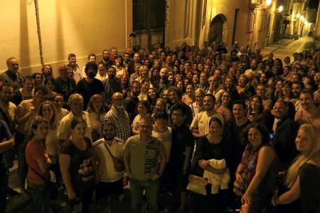 300 persones es sumen a la passejada nocturna de 'Font de misteris' inclosa dins la Setmana de la Mobilitat