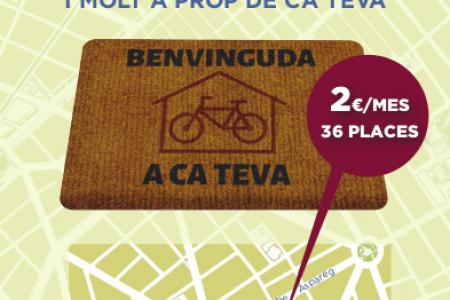 L'Smap obre la inscripció per llogar una plaça al nou aparcament per a bicicletes de Pere Garau