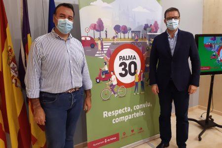 Palma es transformarà en ciutat 30 el mes d'octubre