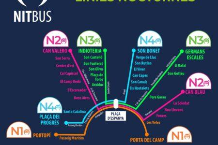 L'EMT reactiva tota la xarxa del NitBus a partir del divendres dia 8 d'octubre